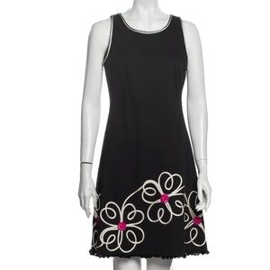 authentic MOSCHINO size 8 black FLORAL tank dress